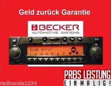 Radio Code Becker Indianapolis Cascade DTM Avus schnelle Hilfe / Mo - So