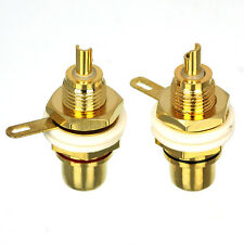 10 Pcs CESS? RCA Hi-Fi Gold-Plated Copper socket Chassis Panel mount
