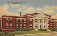 D61/ Phenix City Alabama AL Postcard Linen Russell County Court House