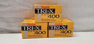 3 Rolls Kodak TX 400-36 Exposure 35mm Tri-x Pan Black and White Film EXP 10/2000
