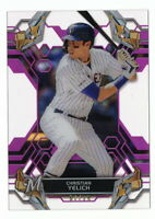 CHRISTIAN YELICH 2019 TOPPS HIGH TEK PINK PARALLEL #67/75 BREWERS