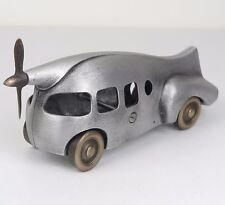 "Aero Car w/ Propeller Handmade Cast Bronze & Aluminum Metal Nelles 9.5""L New"