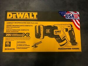 DEWALT  DCS367B 20V MAX XR Reciprocating Saw Compact Tool Only Brand New