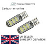 2x 501 Led White T10 Waterproof Xenon Car Bulbs Canbus Error Free Side Light