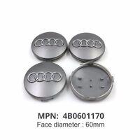 4Pcs 60mm Wheel Center Cap 4B0601170 For Audi A3 A4 A6 A8 S4 S6 RS4 New