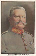 Generalfeldmarschall von Hindenburg Künstler-AK Hornert Adel Monarchie 1804212