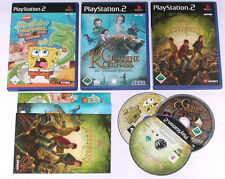 3 Spitzen KINDER Spiele für Playstation 2 z.B. SPONGEBOB; SPIDERWICKS; KOMPASS