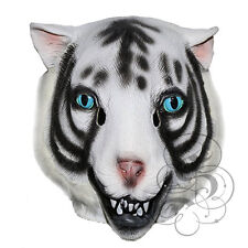 Latex Animal Head Bengal White Tiger Wild Cat Fancy Dress Party Carnival Masks