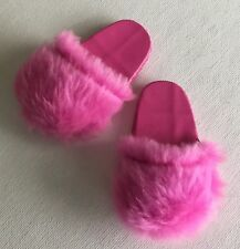 Our Generation,American Girl, Gotz ~18 Inch Doll ~PINK FUZZY SLIPPERS~Brand New