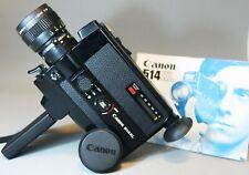 CANON 514XL Super 8 8mm film Movie Cine Camera INSTRUCTIONS WORKING Please Read