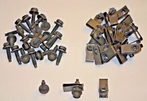 "GM Bolts & Long U Nuts Black Zinc Coated 1/4-20 x 1"" Hex 7/16 General Use"