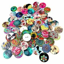 100pcs Vintage Wooden Round Buttons Sewing Buttons Handmade DIY Scrapbooking Hot