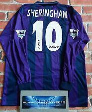 RARE Tottenham GRANDE 1995/1997 Manica Lunga Maglietta da Calcio Spurs Sherringham
