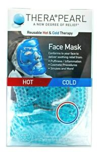 TheraPearl Reusable Face mask with Gel Beads, Flexible Hot-Cold Face Mask
