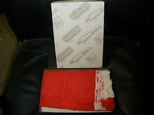 New never used vintage half apron red sheer sezy white lace 100% nylon w/ box