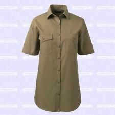 Lands' End Plus Short Sleeve Button Down Shirt Women's Tops & Blouses