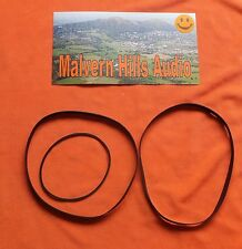 3 x Piece Drive Belt Set for The Aiwa AD-F910 AD-F 910 Cassette Deck Brand New