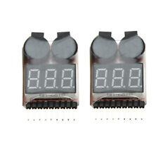 2Pcs 1-8S Indicator RC Li-ion Lipo Battery Tester Low Voltage Buzzer Alarm I1H0