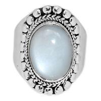 Srilankan - Moonstone 925 Sterling Silver Ring Jewelry s.6.5 PMSR347