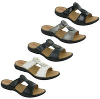 Heavenly Feet Gina Ladies Sandals Slip On Cushioned Comfort Open Toe Shoes UK4-8