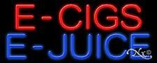 "NEW ""E - CIGS E-JUICE"" 32x13 REAL NEON SIGN w/CUSTOM OPTIONS 11390"