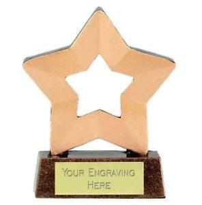 Mini Star Trophy Award (8cm) free engraving & p&p