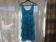 size 14 ladies monsoon dress in turquoise