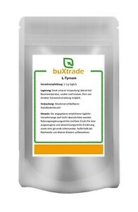 L-Tyrosin Pulver   Muskelaufbau   Aminosäure   Nahrungsergänzung  Versch. Mengen