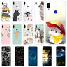 For Xiaomi Redmi Note 8 7 6 Pro Slim Clear Painted Soft Silicone TPU Case Cover