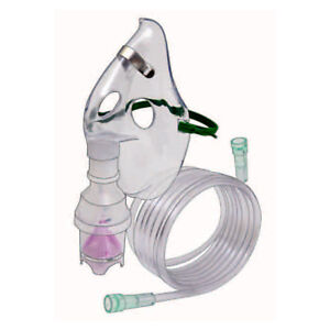 Dynarex - Nebulizer 7FT, Oxygen Tubing Adult Aerosol Mask, Elongated, #5604