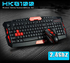Cityform hk8100 WIRELESS CONTENUTO MULTIMEDIALE GAMING KEYBOARD + 2.4 GHz 6 Pulsanti Topi Set