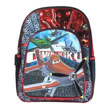 "NEW 2013 Disney Pixar Planes 16"" Black Bag School Classic Backpack Travel Tote"