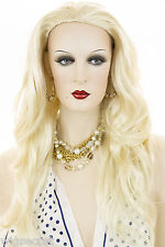 Stunning 3/4 Cap Long Straight - Wavy Flowing Layers of Hair Wigs Secured W Comb