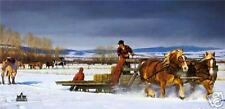 Winter Chores by Nancy Glazier Limited Edition Canvas
