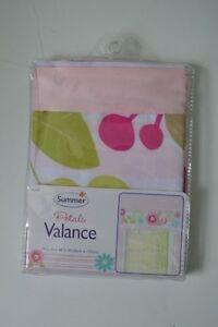 Summer Infant Petals Window Valance Pink Green Blue Floral Nursey Decor NEW