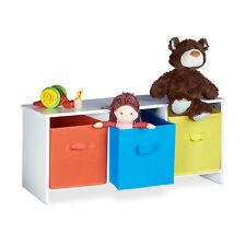 Kindersitzbank zur Spielzeugaufbewahrung, Spielzeugkiste aus Holz Sitzbank