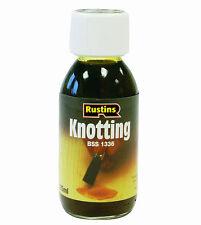 Rustins Brown Knotting Sealer 125ml Sealing Wood Knots on Natural Brown Wood