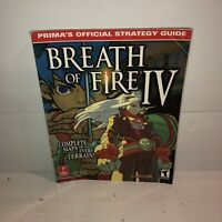 VGC Breath of Fire IV Prima's Official Strategy Guide for Playstation PS1 Game 4