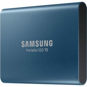 Samsung T5 500GB Portable External SSD - Blue - Ultra Fast Storage