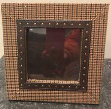 "4.5"" x 4.5"" Plaid Picture Photo Frame - EUC"