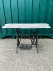 Antique Victorian Singer Machine Base with Marble Top