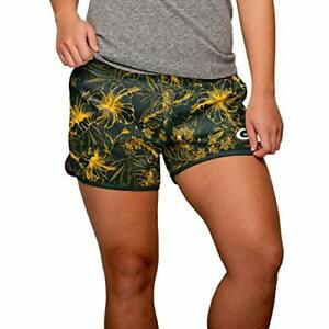 FOCO NFL Women's Green Bay Packers Tonal Floral Running Shorts