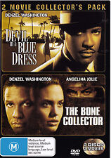BONE COLLECTOR / DEVIL IN A BLUE DRESS Washington Jolie DVD R4 - PAL - New