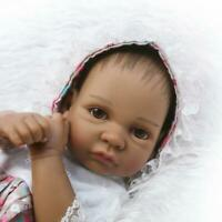 "10"" Black Reborn Dolls Girls Silicone Full Body Reborn African American Dolls"