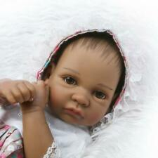 Preemie 10in Full Body Silicone African American Realistic Reborn Baby Dolls
