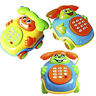 Baby Children* Wired Music Smiling Face Cartoon Phone Educational Toys Gift JI1
