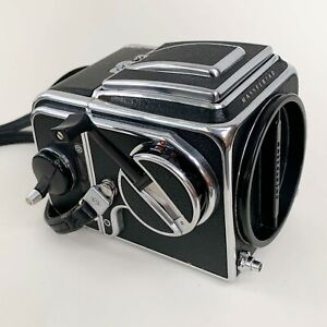 Hasselblad 500C body with waist level view finder and12 back