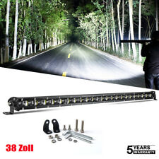 6D Slim Single Row 38inch LED Work Light Bar for Off road SUV Car Truck ATV
