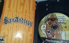 Playstation 2 GTA San Andreas and Grand Theft Auto 3 -discs cases booklets