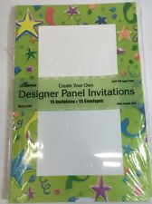 Create Your Own Party or Announcements Invitations 5.5x8.5 + Envelopes Set of 15